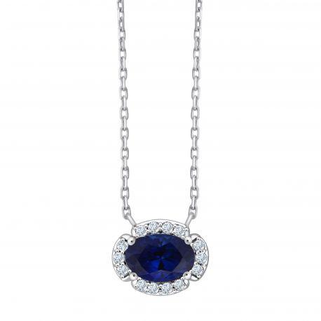 Collier Marylou Saphir et diamants