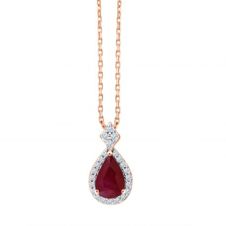 Collier Shae rubis et diamants