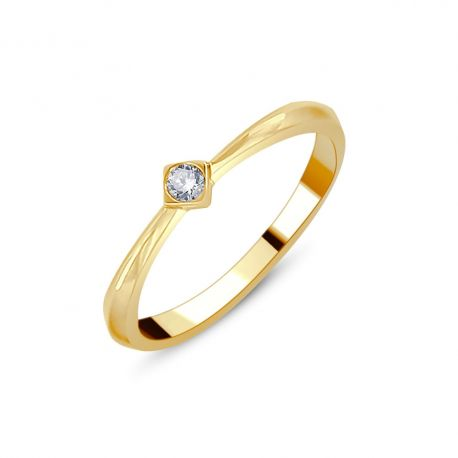 Solitaire diamant or 750/000