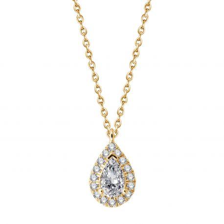 Collier Pauline diamant poire