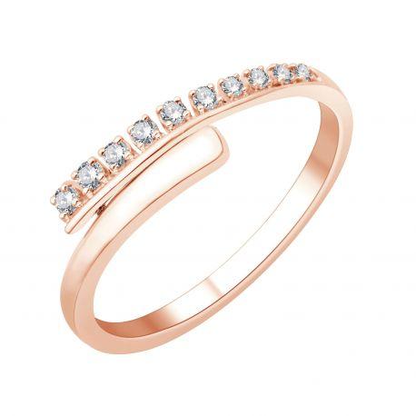 Bague diamants de rosée
